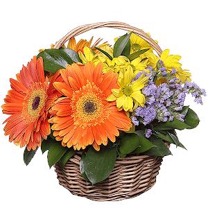 Корзина цветов Цветущий луг